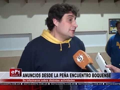 ANUNCIOS DESDE LA PEÑA ENCUENTRO BOQUENSE