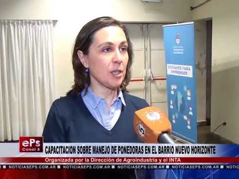 CAPACITACION SOBRE MANEJO DE PONEDORAS EN EL BARRIO NUEVO HORIZONTE