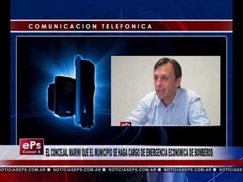 EL CONCEJAL MARINI QUE EL MUNICIPIO SE HAGA CARGO DE EMERGENCIA ECONOMICA DE BOMBEROS