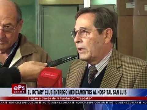 EL ROTARY CLUB ENTREGO MEDICAMENTOS AL HOSPITAL SAN LUIS