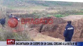 ENCONTRARON UN CUERPO EN UN CANAL CERCANO A LA RUTA Nº 46