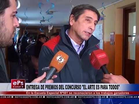 ENTREGA DE PREMIOS DEL CONCURSO EL ARTE ES PARA TODOS