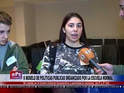 II MODELO DE POLITICAS PUBLICAS ORGANIZADO POR LA ESCUELA NORMAL
