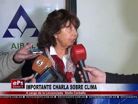 IMPORTANTE CHARLA SOBRE CLIMA