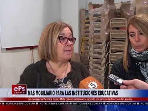 MAS MOBILIARIO PARA LAS INSTITUCIONES EDUCATIVAS