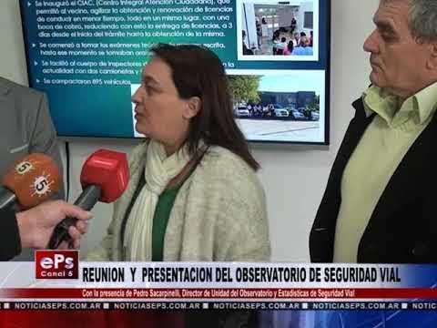 REUNION Y PRESENTACION DEL OBSERVATORIO DE SEGURIDAD VIAL