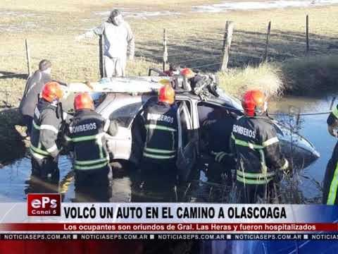 VOLCÓ UN AUTO EN EL CAMINO A OLASCOAGA