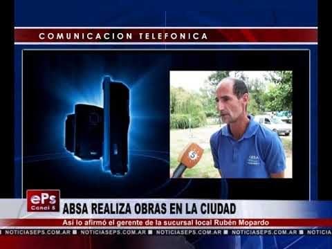ABSA REALIZA OBRAS EN LA CIUDAD