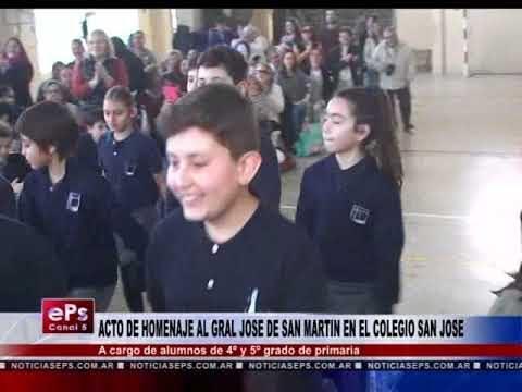 ACTO DE HOMENAJE AL GRAL JOSE DE SAN MARTIN EN EL COLEGIO SAN JOSE