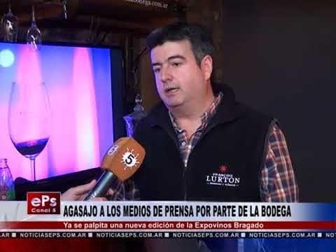 AGASAJO A LOS MEDIOS DE PRENSA POR PARTE DE LA BODEGA