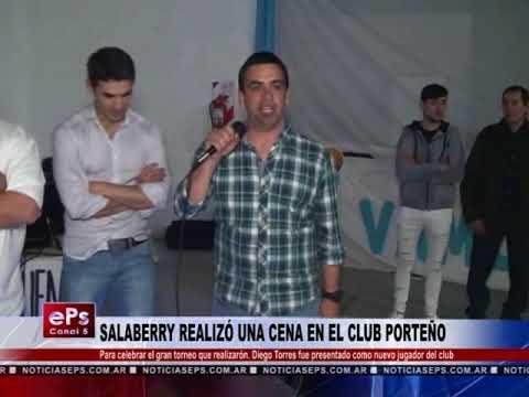 ALABERRY REALIZÓ UNA CENA EN EL CLUB PORTEÑO