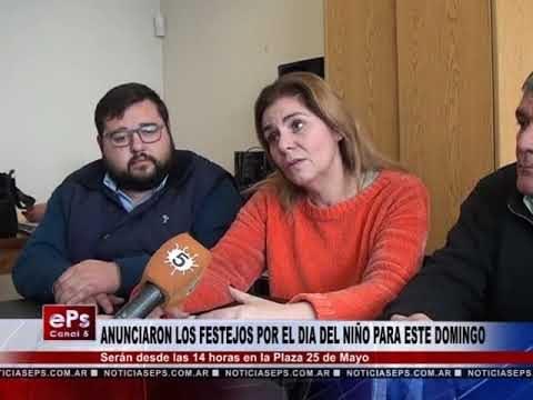 ANUNCIARON LOS FESTEJOS POR EL DIA DEL NIÑO PARA ESTE DOMINGO