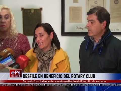 DESFILE EN BENEFICIO DEL ROTARY CLUB