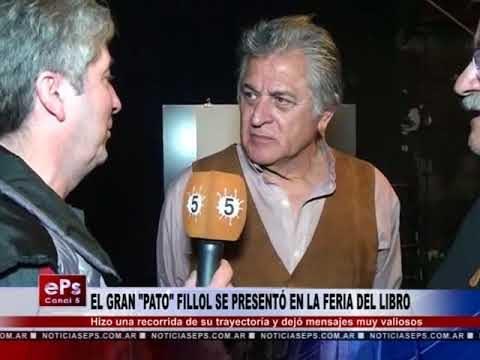 EL GRAN PATO FILLOL SE PRESENTÓ EN LA FERIA DEL LIBRO