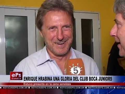 ENRIQUE HRABINA UNA GLORIA DEL CLUB BOCA JUNIORS