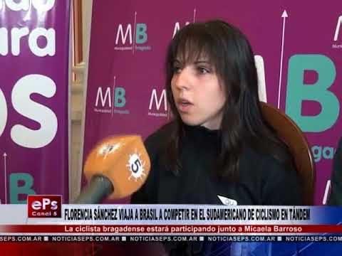 FLORENCIA SÁNCHEZ VIAJA A BRASIL A COMPETIR EN EL SUDAMERICANO DE CICLISMO EN TÁNDEM