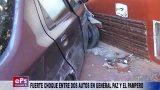 FUERTE CHOQUE ENTRE DOS AUTOS EN GENERAL PAZ Y EL PAMPERO