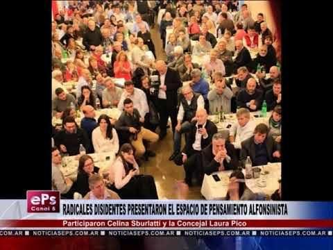 RADICALES DISIDENTES PRESENTARON EL ESPACIO DE PENSAMIENTO ALFONSINISTA
