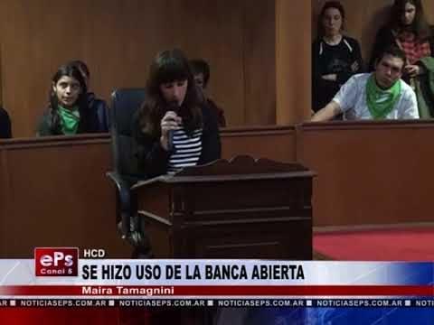 SE HIZO USO DE LA BANCA ABIERTA