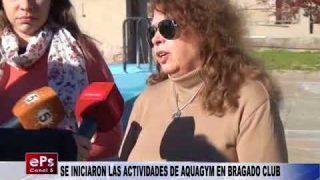 SE INICIARON LAS ACTIVIDADES DE AQUAGYM EN BRAGADO CLUB