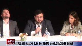 SE PUSO EN MARCHA EL IX ENCUENTRO MODELO NACIONES UNIDAS