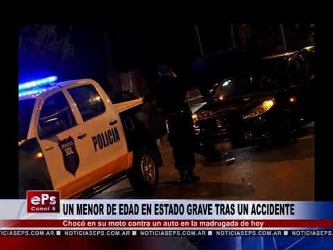 UN MENOR DE EDAD EN ESTADO GRAVE TRAS UN ACCIDENTE