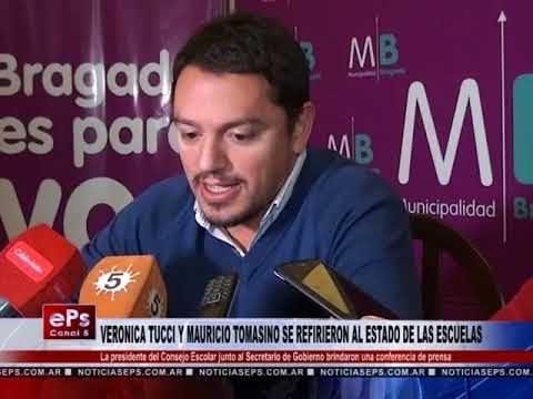VERONICA TUCCI Y MAURICIO TOMASINO SE REFIRIERON AL ESTADO DE LAS ESCUELAS