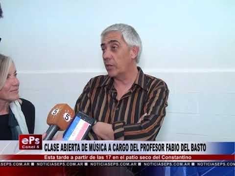 CLASE ABIERTA DE MÚSICA A CARGO DEL PROFESOR FABIO DEL BASTO