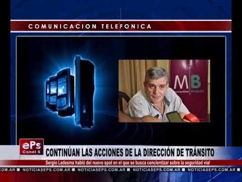 CONTINÚAN LAS ACCIONES DE LA DIRECCIÓN DE TRÁNSITO
