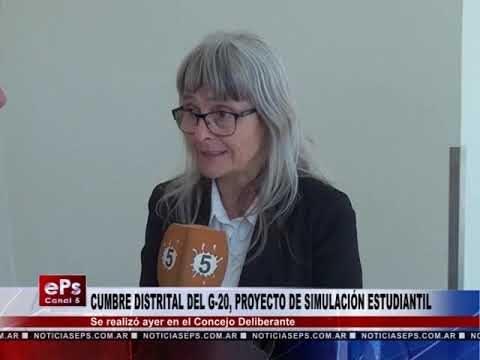 CUMBRE DISTRITAL DEL G 20, PROYECTO DE SIMULACIÓN ESTUDIANTIL