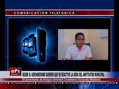 DESDE EL KIRCHNERISMO QUIEREN QUE SE REACTIVE LA OBRA DEL ANFITEATRO MUNICIPAL