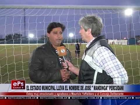 EL ESTADIO MUNICIPAL LLEVA EL NOMBRE DE JOSE MANDINGA