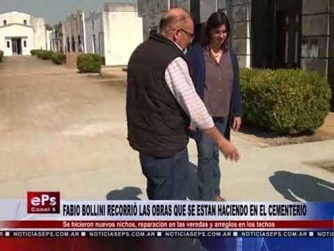 FABIO BOLLINI RECORRIÓ LAS OBRAS QUE SE ESTAN HACIENDO EN EL CEMENTERIO