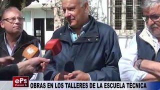 OBRAS EN LOS TALLERES DE LA ESCUELA TÉCNICA