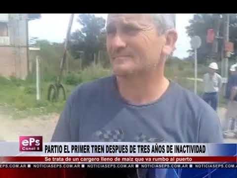 PARTIO EL PRIMER TREN DESPUES DE TRES AÑOS DE INACTIVIDAD