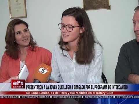 PRESENTARON A LA JOVEN QUE LLEGÓ A BRAGADO POR EL PROGRAMA DE INTERCAMBIO