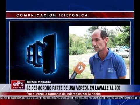 SE DESMORONÓ PARTE DE UNA VEREDA EN LAVALLE AL 200