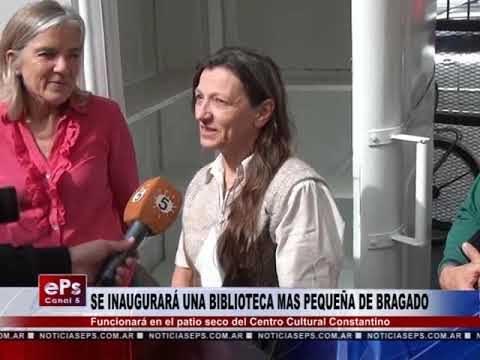 SE INAUGURARÁ UNA BIBLIOTECA MAS PEQUEÑA DE BRAGADO