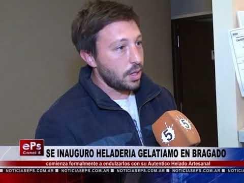 SE INAUGURO HELADERIA GELATIAMO EN BRAGADO