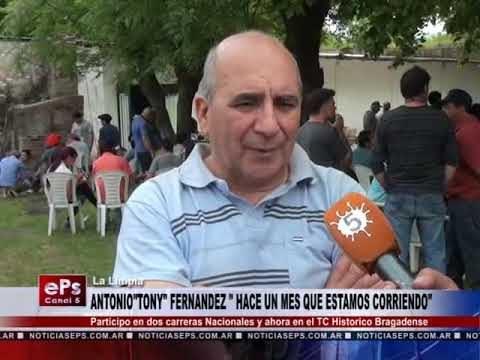 ANTONIO FERNENDEZ HACE UN MES QUE ESTAMOS CORRIENDO