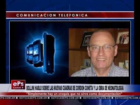 BOLLINI HABLO SOBRE LAS NUEVAS CUADRAS DE CORDON CUNETA Y LA OBRA DE NEONATOLOGIA