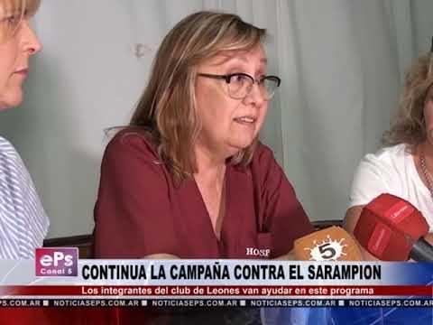 CONTINUA LA CAMPAÑA CONTRA EL SARAMPION