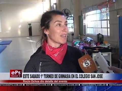 ESTE SABADO 1º TORNEO DE GIMNASIA EN EL COLEGIO SAN JOSE