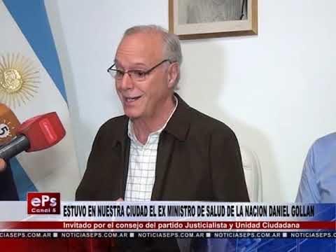 ESTUVO EN NUESTRA CIUDAD EL EX MINISTRO DE SALUD DANIEL GOLLAN