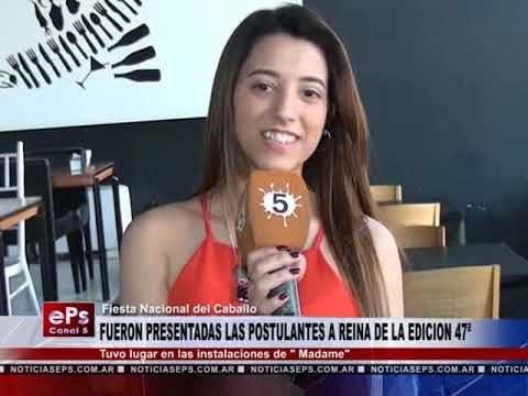 FUERON PRESENTADAS LAS POSTULANTES A REINA DE LA EDICION 47ª DE LA FIESTA NACIONAL DELCABALLO