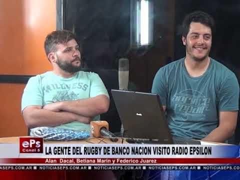 LA GENTE DEL RUGBY DE BANCO NACION VISITO LOS ESTUDIOS DE CANAL 5