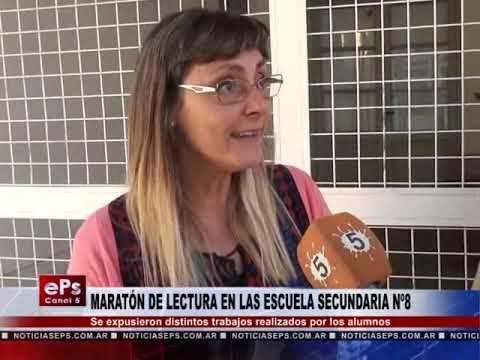 MARATÓN DE LECTURA EN LAS ESCUELA SECUNDARIA Nº 8