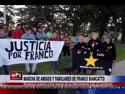 MARCHA DE AMIGOS Y FAMILIARES DE FRANCO BIANCATTO