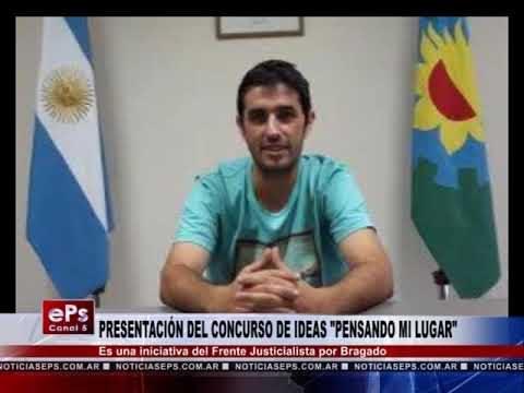 PRESENTACIÓN DEL CONCURSO DE IDEAS PENSANDO MI LUGAR