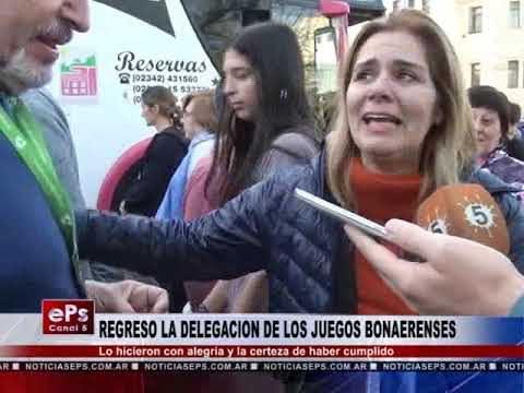 REGRESO LA DELEGACION DE BRAGADO DE LOS JUEGOS BONAERENSES